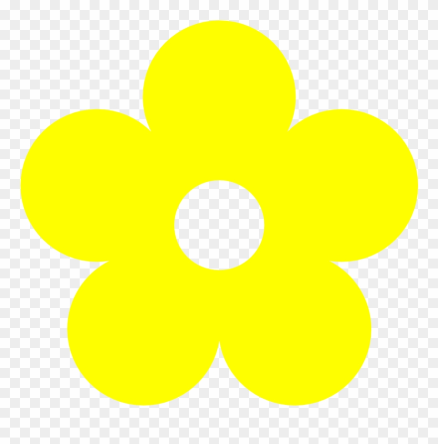 Yellow Flower Clipart , Simple Flower Drawing With Color