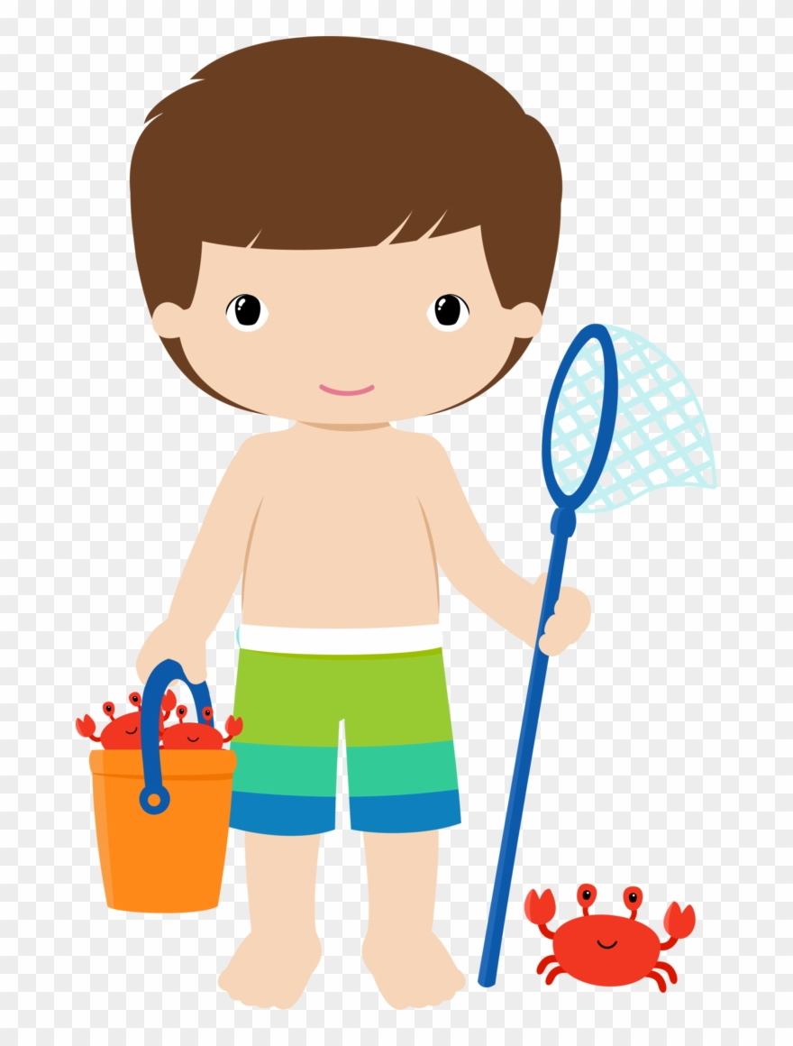 Beach Clipart, Beach Crafts, Clip Art, Coloring Pages, - Pool Party Png Boy Transparent Png