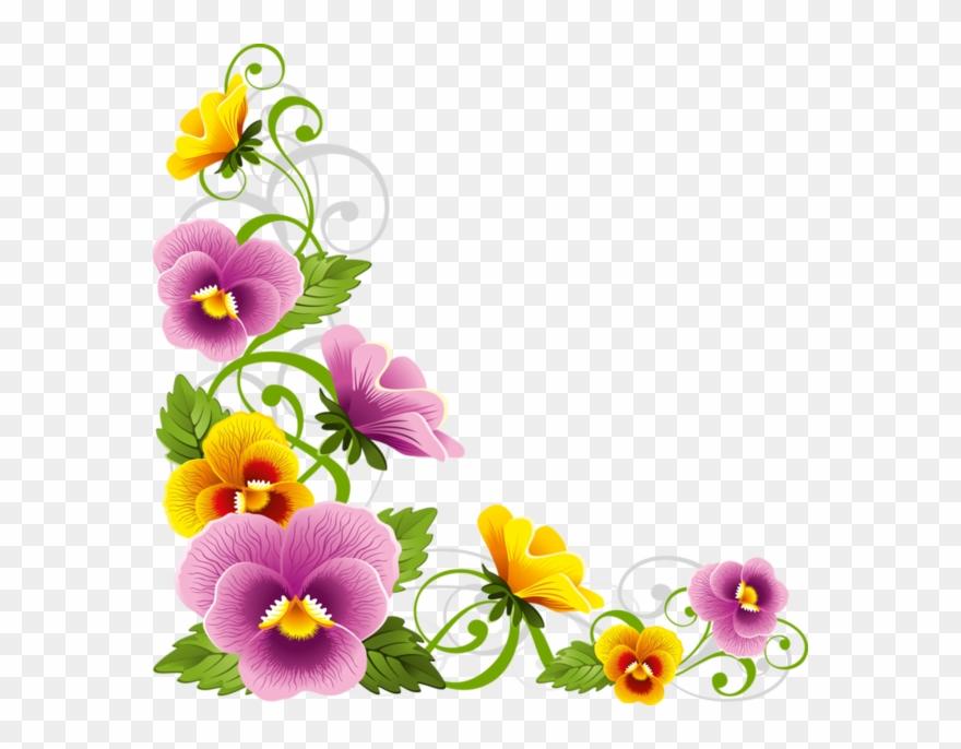 Download Flower Corner Border Png Clipart Borders And Flower
