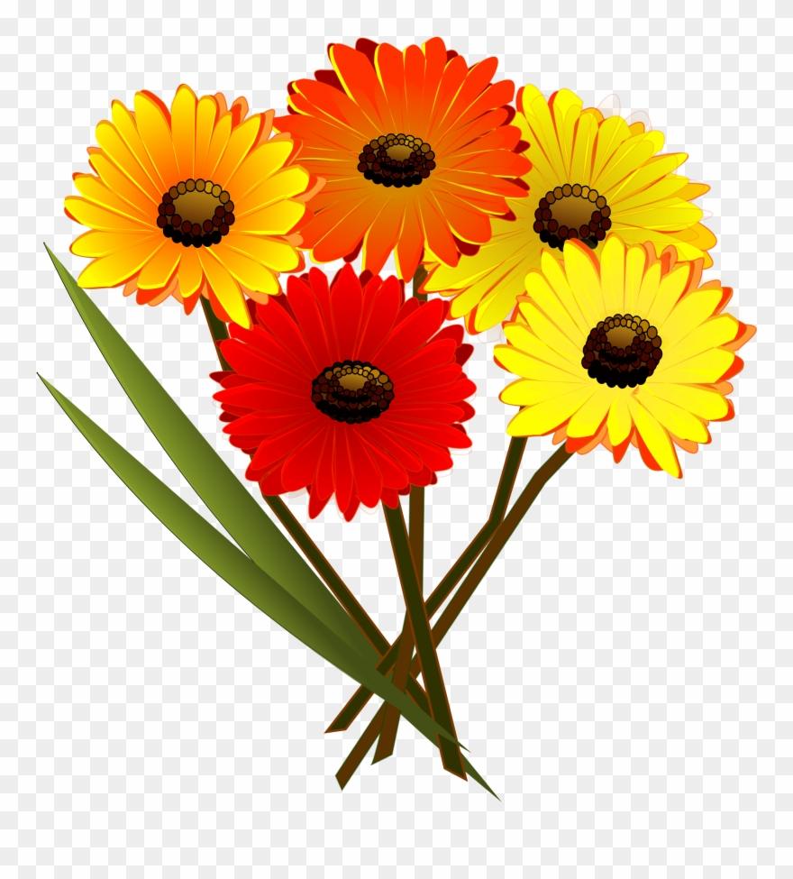 Brunch Clip Art - Bunch Of Flowers Clipart - Png Download (#68530) - PinClipart