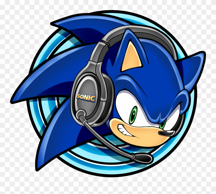 Sonic The Hedgehog With Headphones With Micfreetoedit Sonic Gamer Clipart 600792 Pinclipart