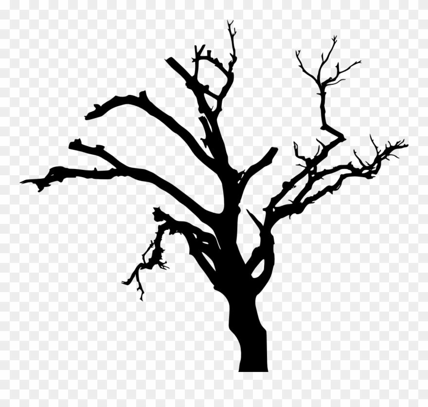 Spooky Dead Tree Silhouette Transparent Vol Png Transparent Dead
