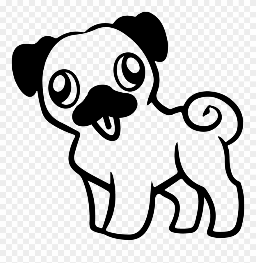 Pug Memes Cartoon Easy Pug Drawing Clipart 603901 Pinclipart