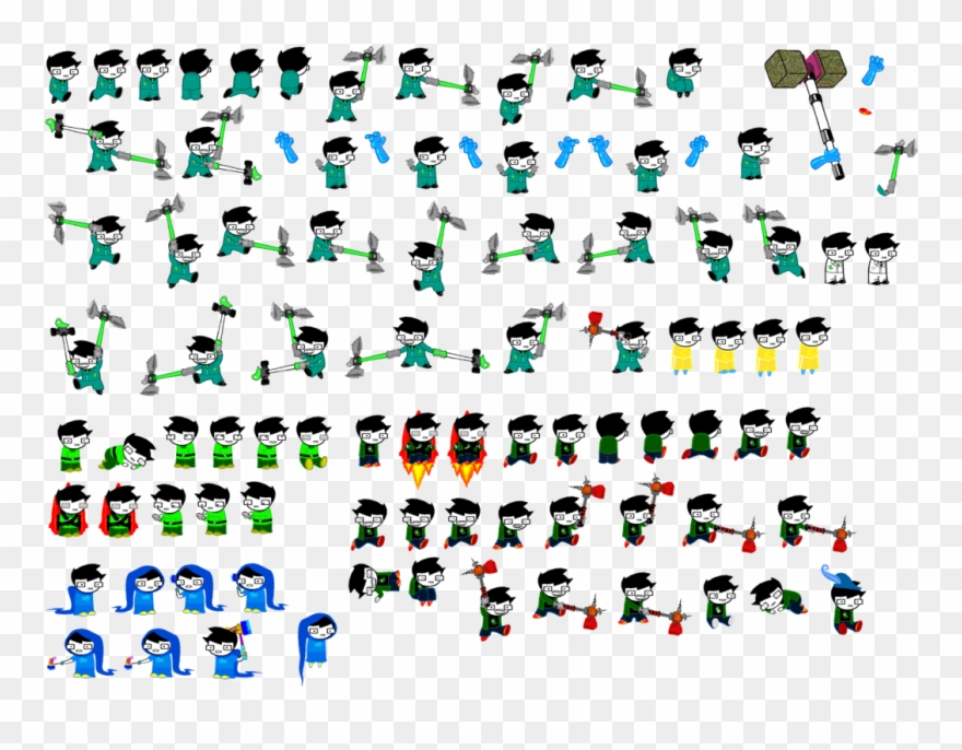 Vector Knight Sprite - Homestuck Sprite Sheet Animation Clipart