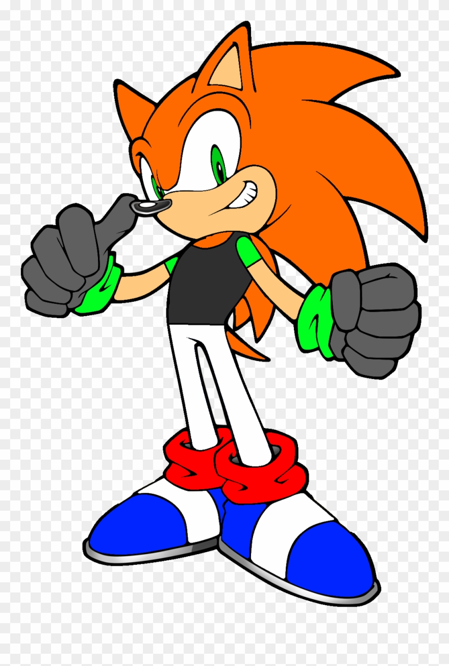 Comical Characters Sonic The Hedgehog Orange Clipart 615290 Pinclipart
