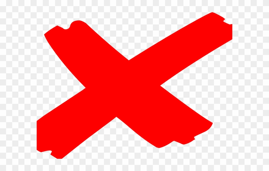 Red Cross Mark Clipart Mistake - Red X Mark Transparent - Png Download