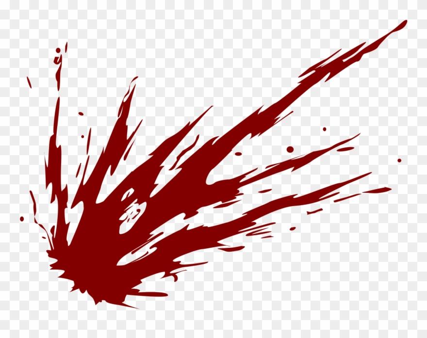Splatter Clipart Burst - Blood Splatter Transparent - Png Download