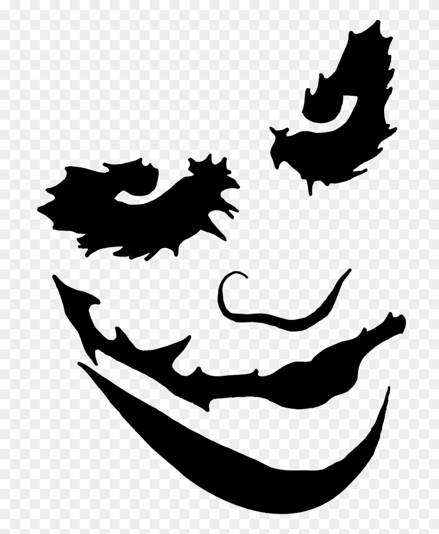 Joker face paint png transparent stock pumpkin carving templates joker clipart