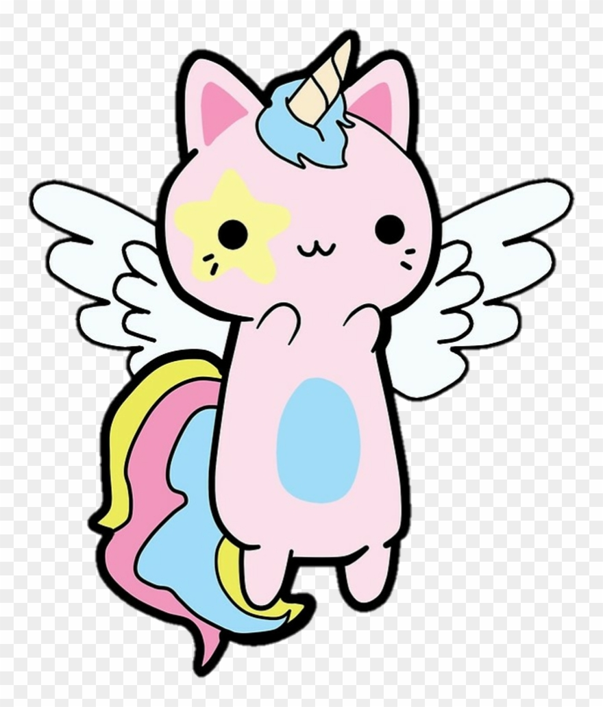 Unicorns Cats Freetoedit Remixit Disegni Di Gatti Kawaii Clipart
