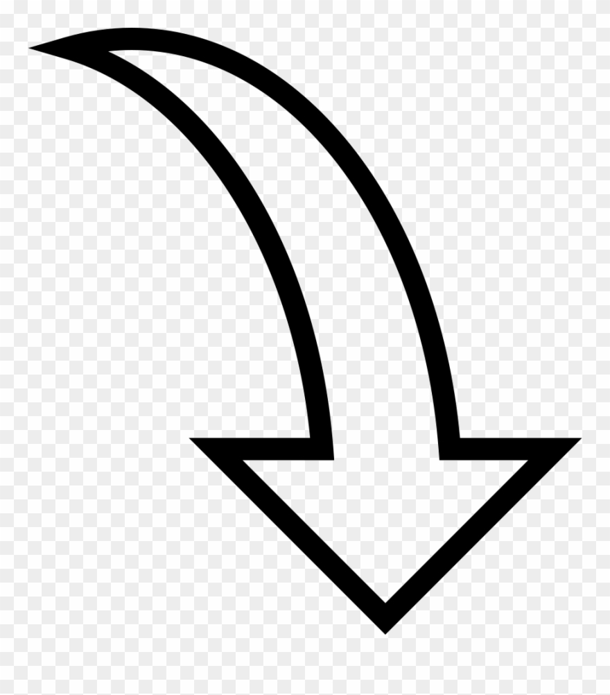 Arrow curved. Curve clipart italic png