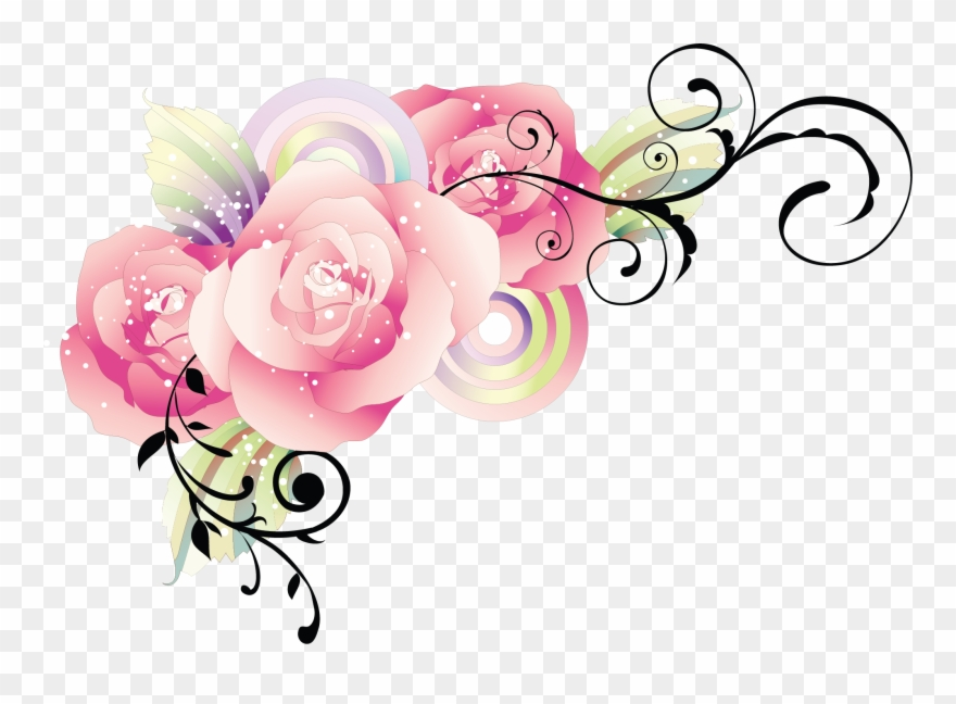 Flower wedding. Text borders png clipart