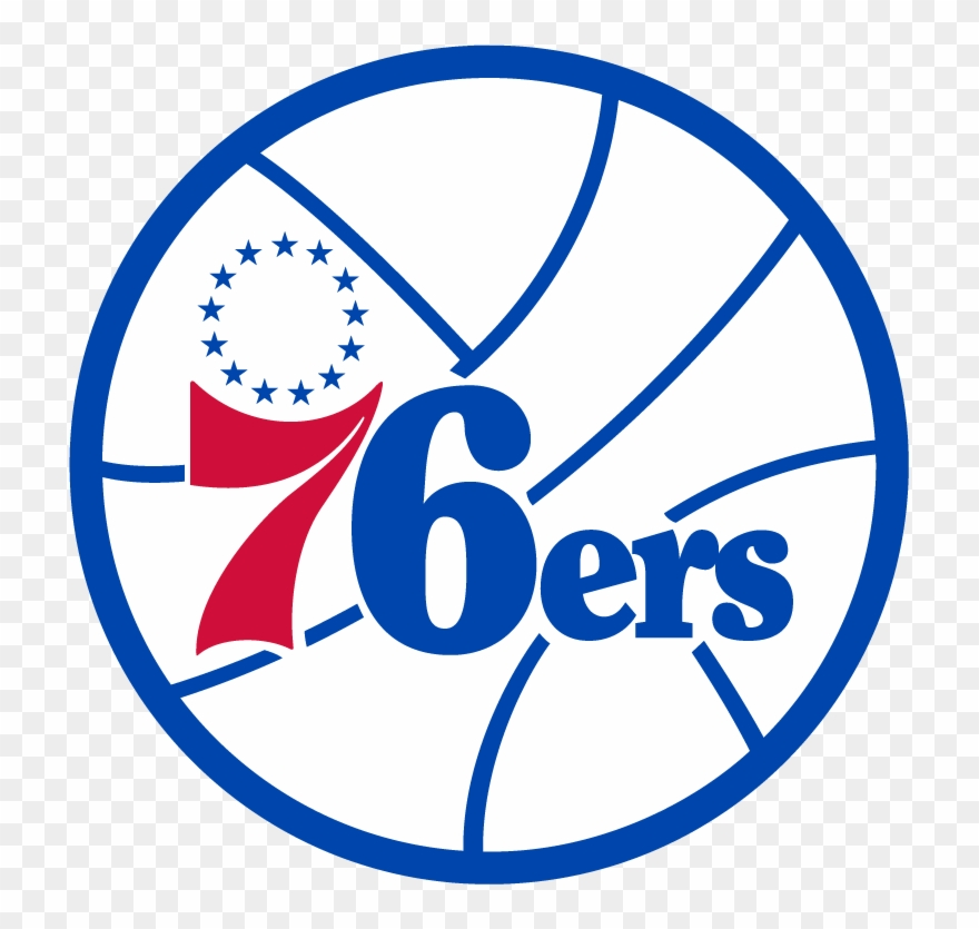 History Of All Logos Philadelphia 76ers Logo Png Clipart 629099 Pinclipart