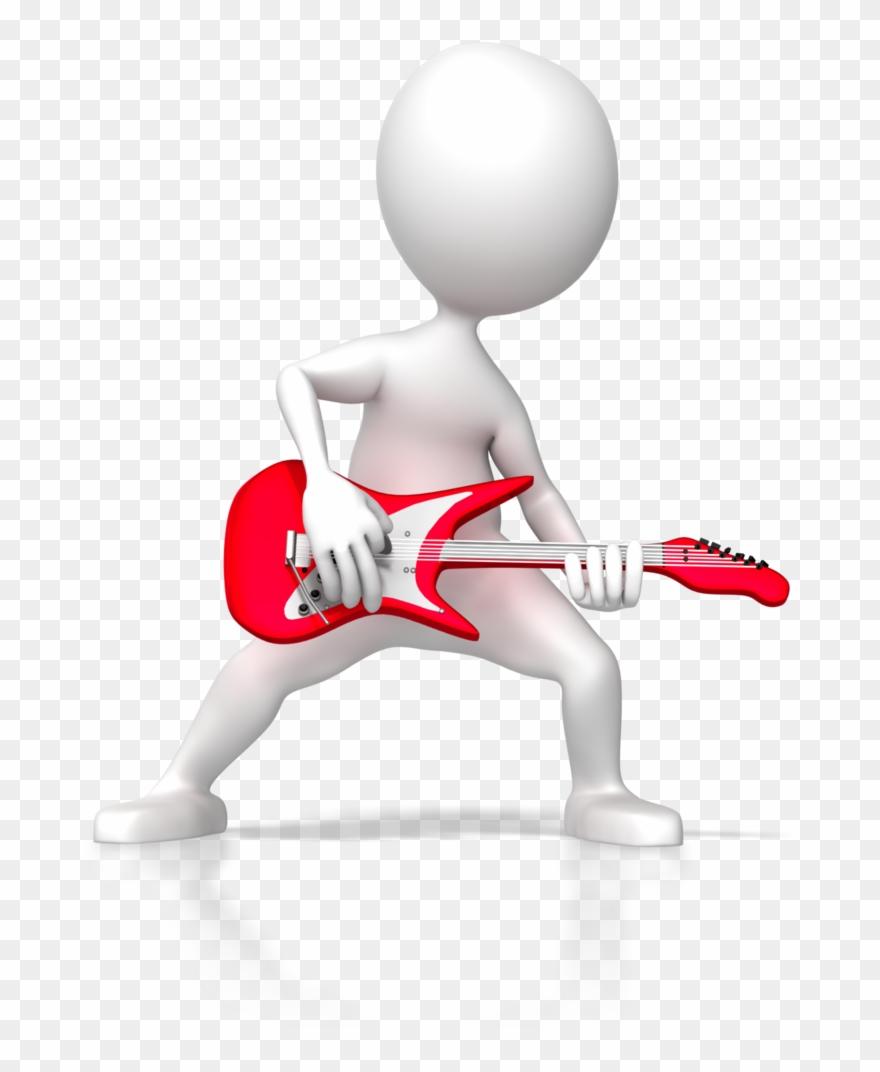 Stick Figure Rock Guitar 6255 3d Presentation Animated Figures