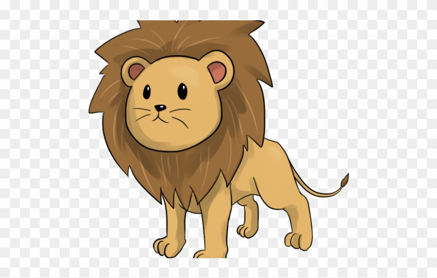 Lion animated. Mountain clipart friend cute