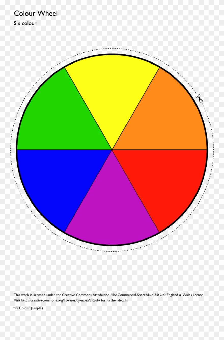 picture relating to Color Wheel Printable known as Shade Wheel Template Printable Clipart Least difficult Fundamental - 6