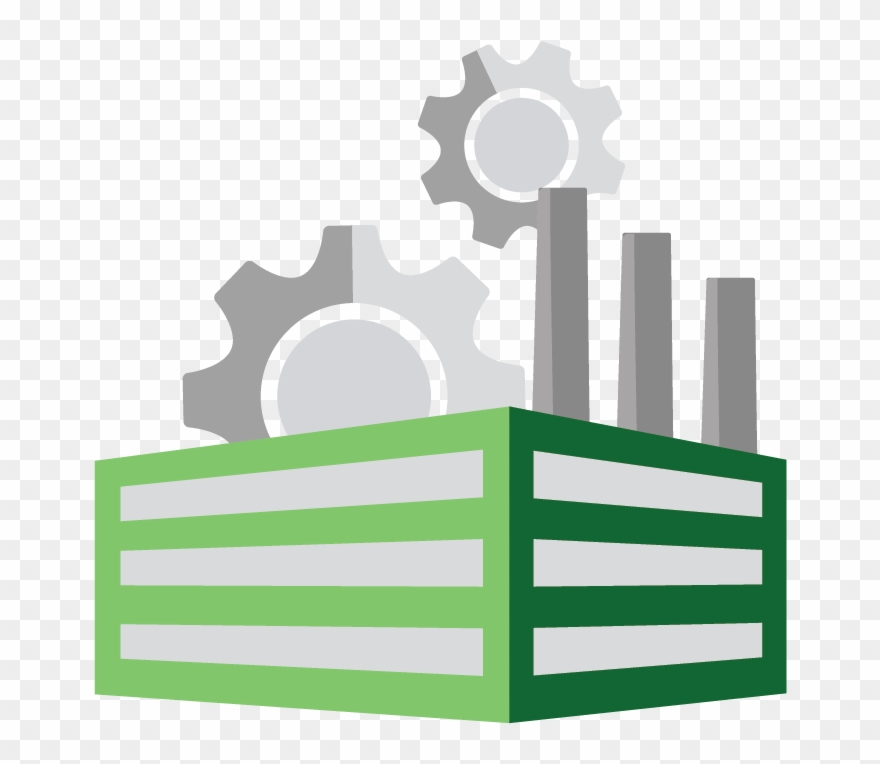 """Manufacturing - """" - Green Industry Icon Png Clipart ..."""