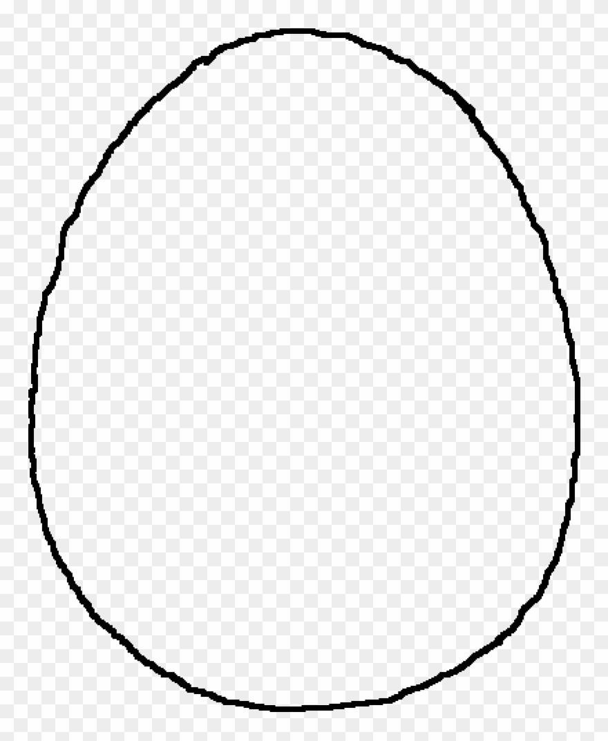 Pixilart Egg Base By Clipart Black And White Download - Easter Egg Template Png Transparent Png