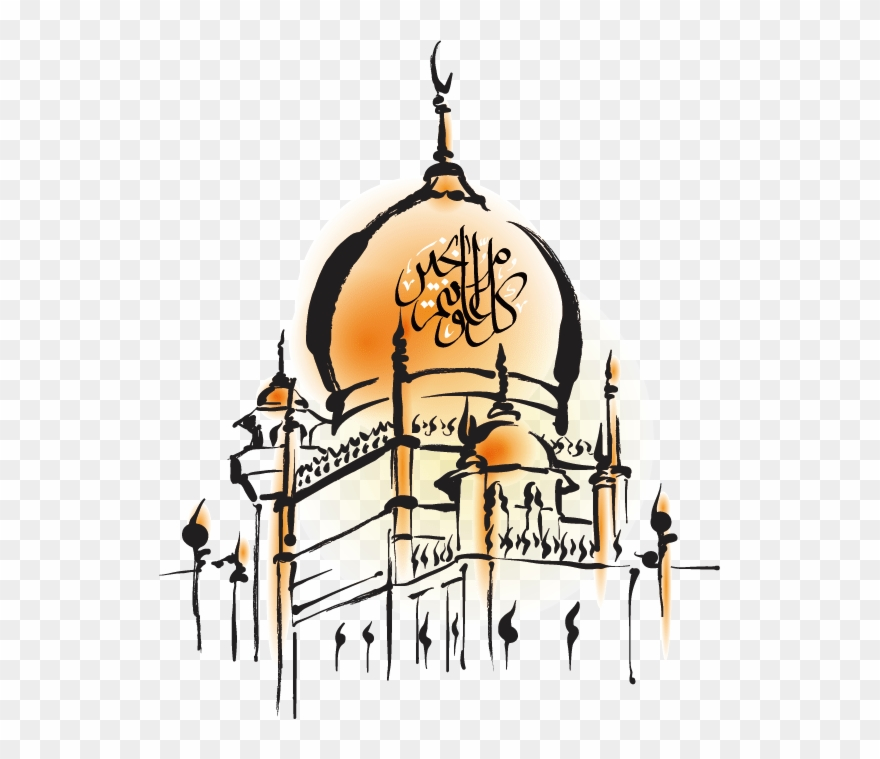 Hand Painted Mosque - Eid Ul Adha Png Clipart