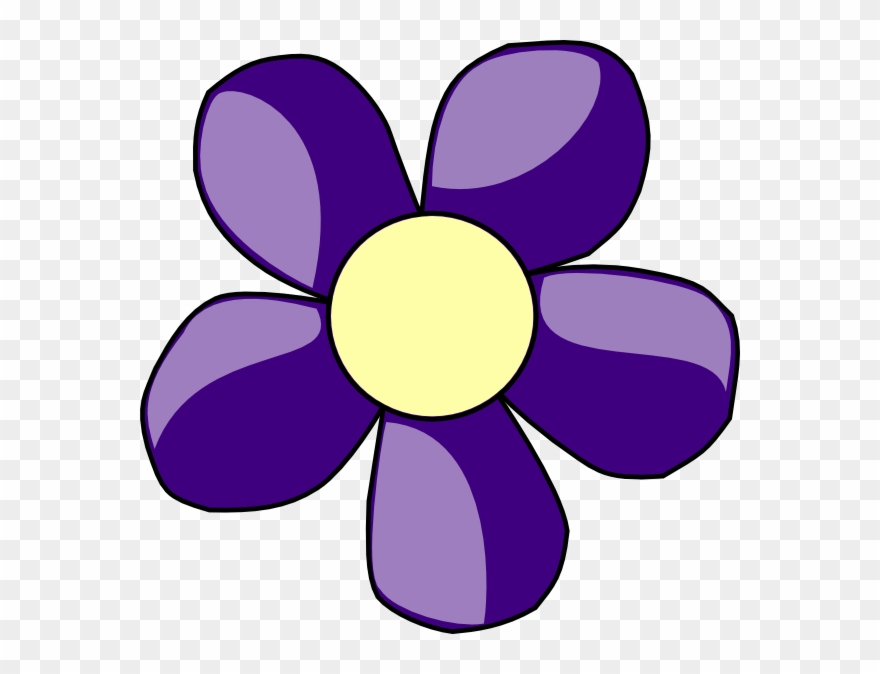 Purple Flower Clipart 7 Flower - Clip Art Flowers Purple - Png ...