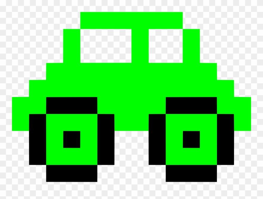 Car Drawing Pixel Art Pixelation Green Pixel Art Hamburger Facile Clipart 646663 Pinclipart