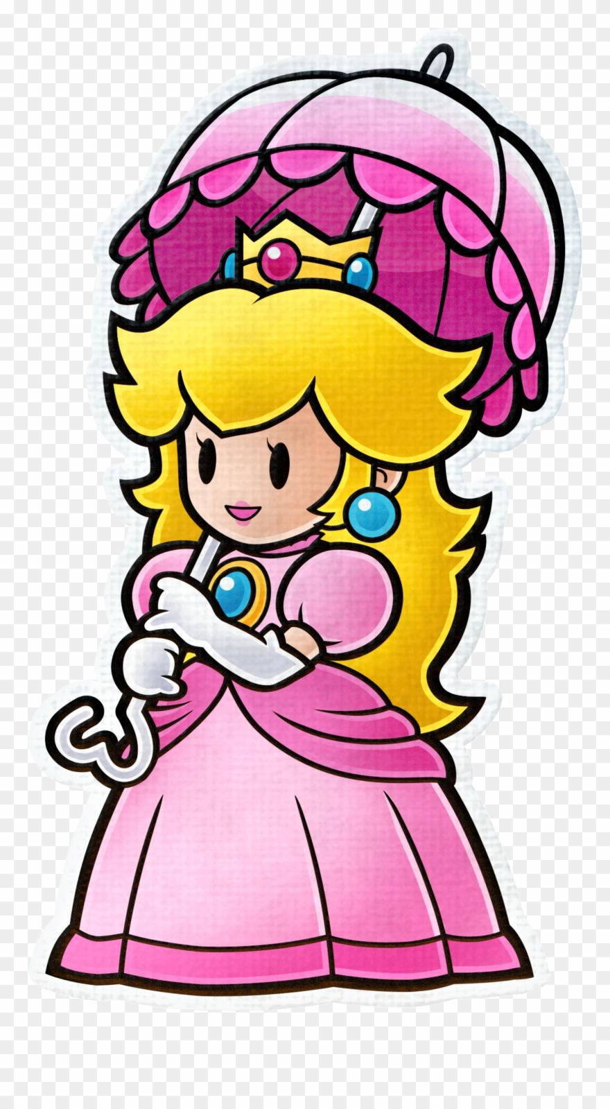 Princess Peach Paper Mario Color Splash Characters Clipart