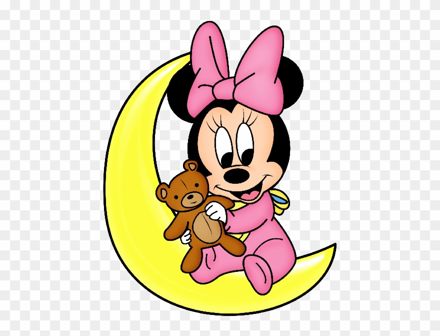 Minnie mouse baby. Cartoon images valentine heart