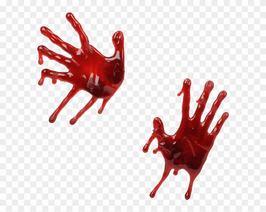Handprint Drawing Blood Blood Hands Clipart 657752