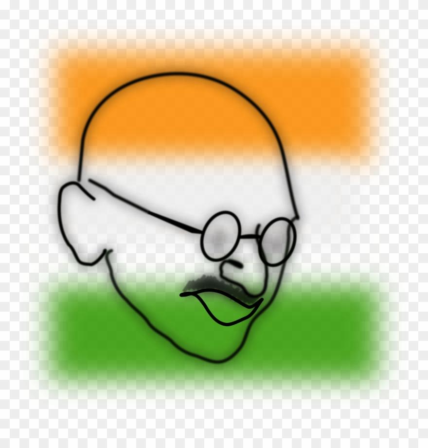 Medium image easy drawing of mahatma gandhi clipart