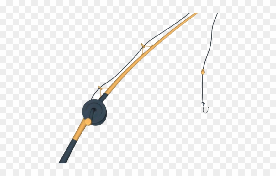 Fishing Rod Clipart Transparent Background Fishing Rod Png Cartoon 668164 Pinclipart