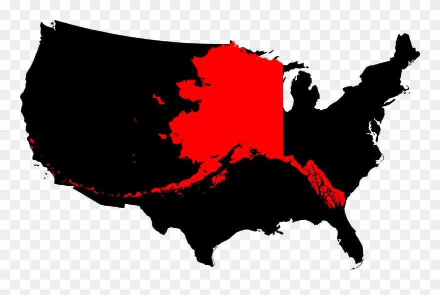 Alaska Compared To The United States Map - Alaska On United States ...
