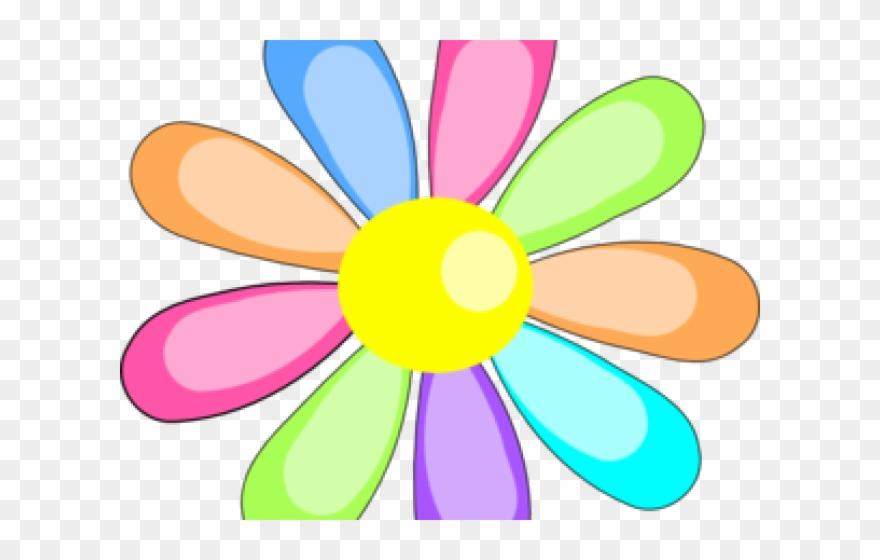 Easter flower. Clipart rainbow clip art