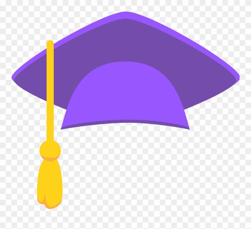Purple graduation. Clipart sticker cap png