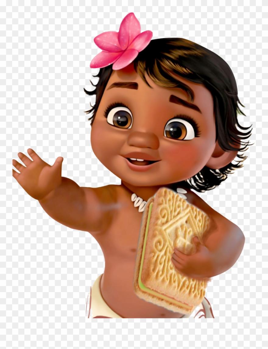 Baby Moana - Moana Thank You Cards Clipart