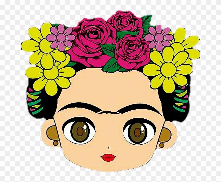 Frida Kahlo Para Dibujar: Cara De Frida Kahlo Dibujo Clipart (#676683)