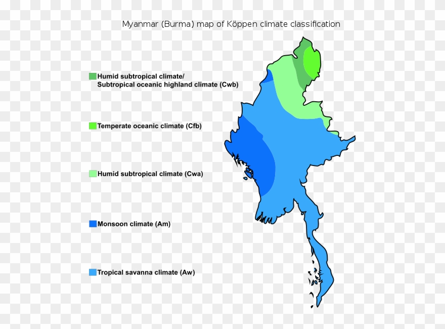 Myanmar Map Of Köppen Climate Clification - Koppen Climate ... on kop map, subtropical zone map, knoll map, russia tundra map, martin map, brown map, key map, classification map, hill map, peters map, humidity map, nelson map, koban map, miller map, peterson map, mitchell map, climate map, world map,