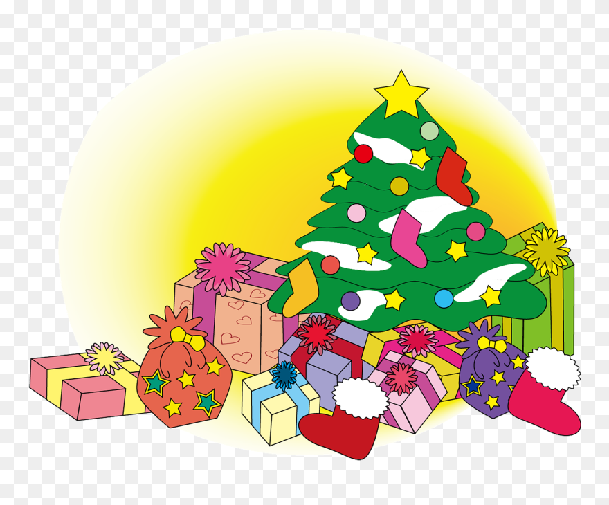 Christmas Winter Tree Gift Christmas Tree And Gifts Clip Art