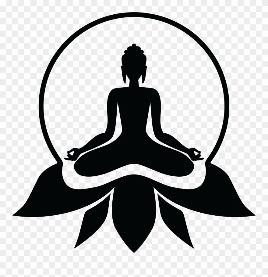 Buddhist drawing yoga lord buddha photos black and white clipart