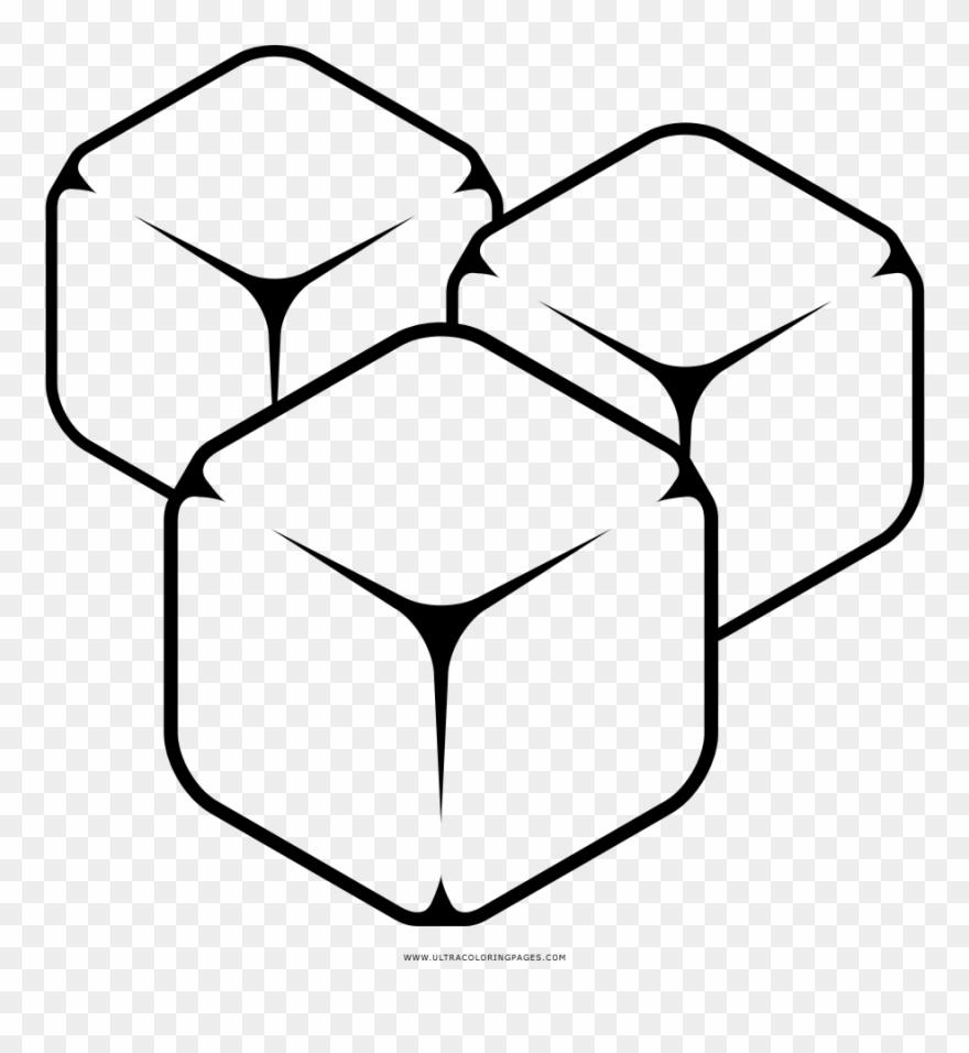 Desenho Gelo Cubos De Hielo Para Colorear Clipart 691029