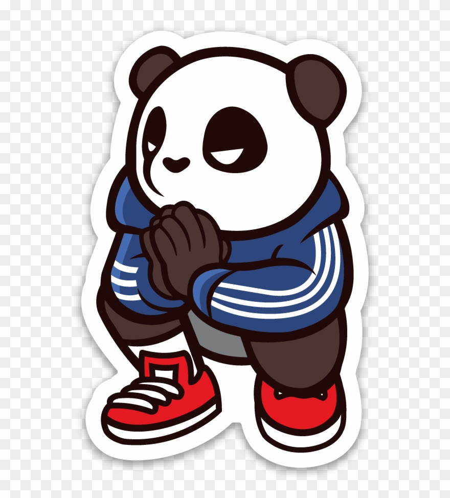 Image of pando the squat god sticker stickers hypebeast clipart