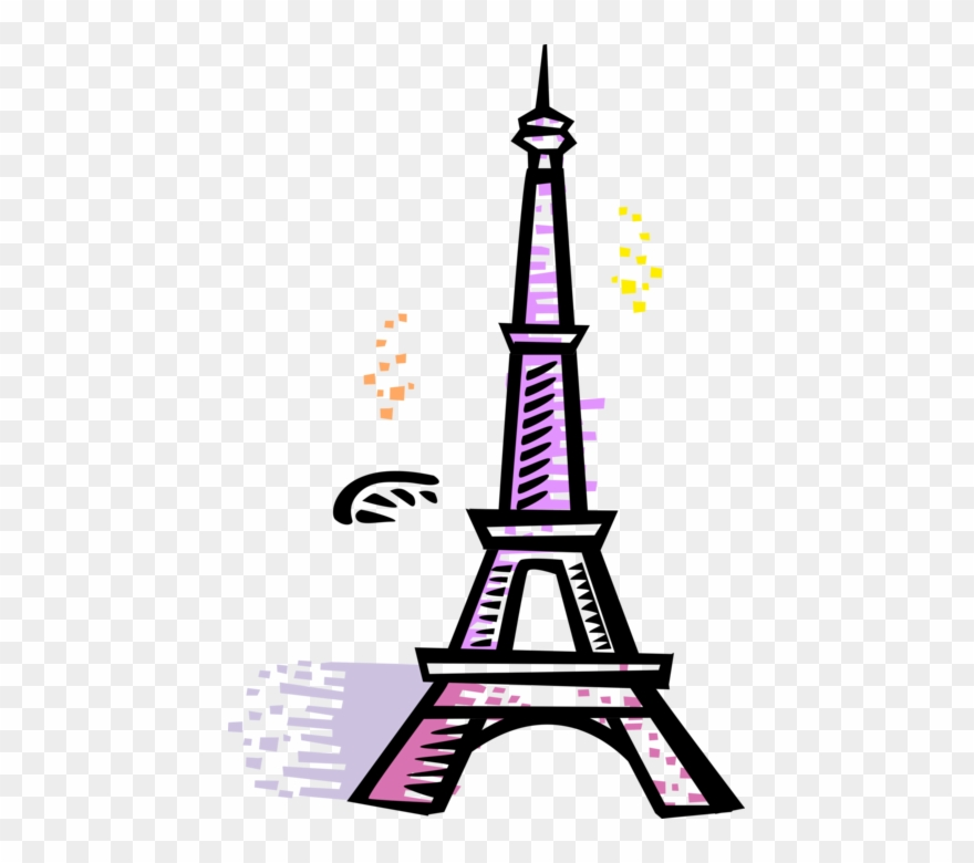Eiffel tower cartoon. Jpg transparent library french