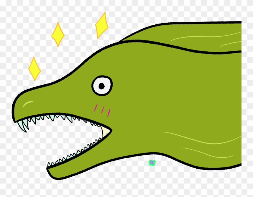 Transparent Eel Clipart Moray Eel Cartoon Png Download 698732 Pinclipart