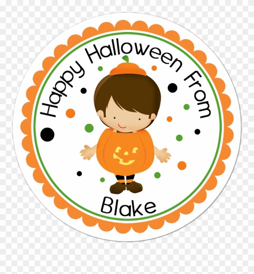 Boy pumpkin costume personalized sticker shirt clipart