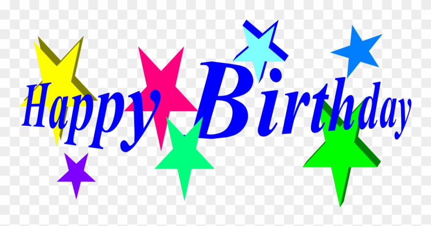 Birthday Images Free Clip Art - Happy Birthday Word Clip Art