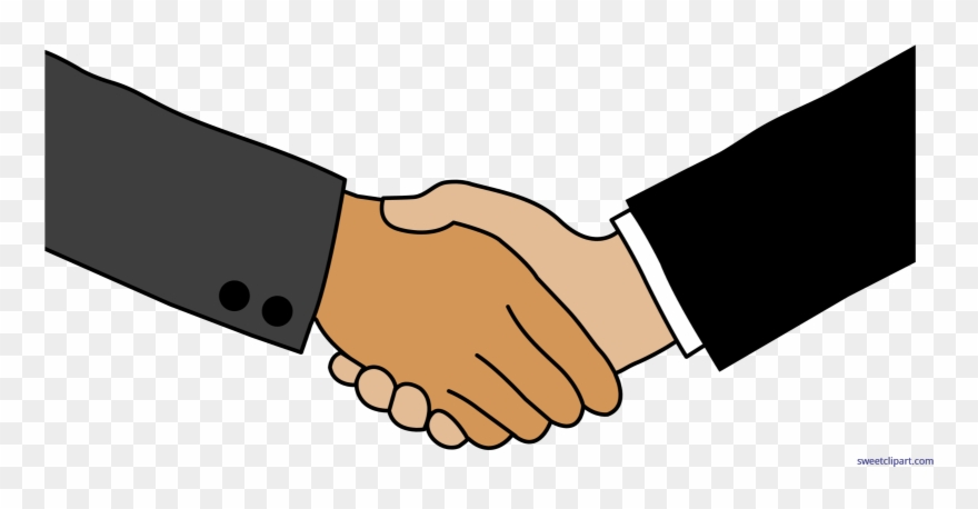 Clip Art Sweet - Business Deal Handshake Clip Art - Png Download