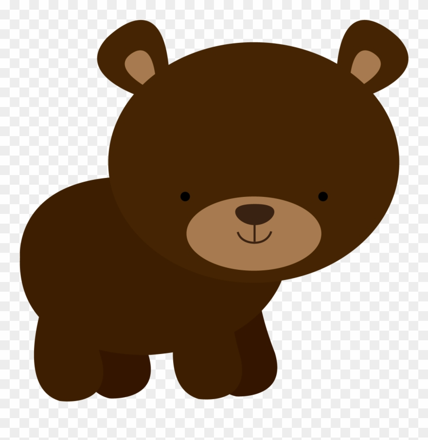 Bear woodland. Window art animals baby