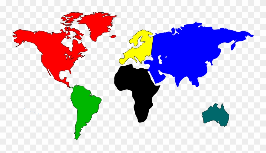 World Map Clip Art Free Clipart Images World Map Continent Colors