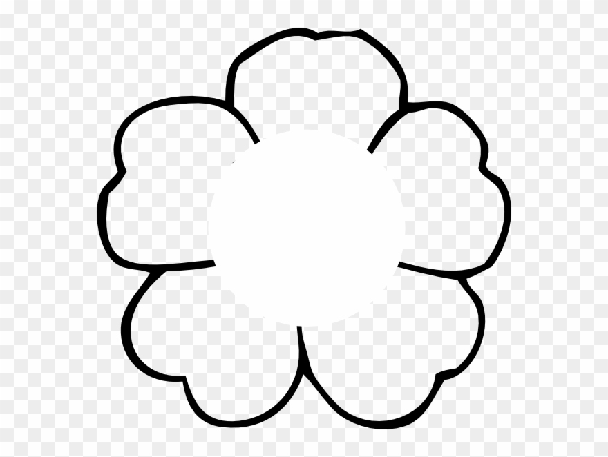 Flower outline white. To print no center
