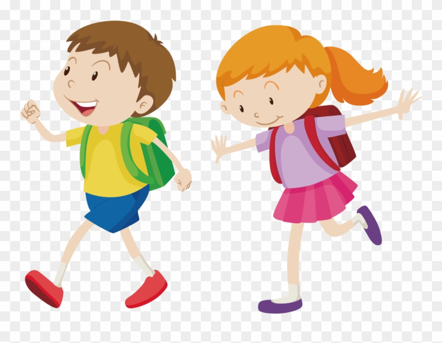 royalty free walking boy clip art go to school vector png transparent png 73966 pinclipart go to school vector png transparent png