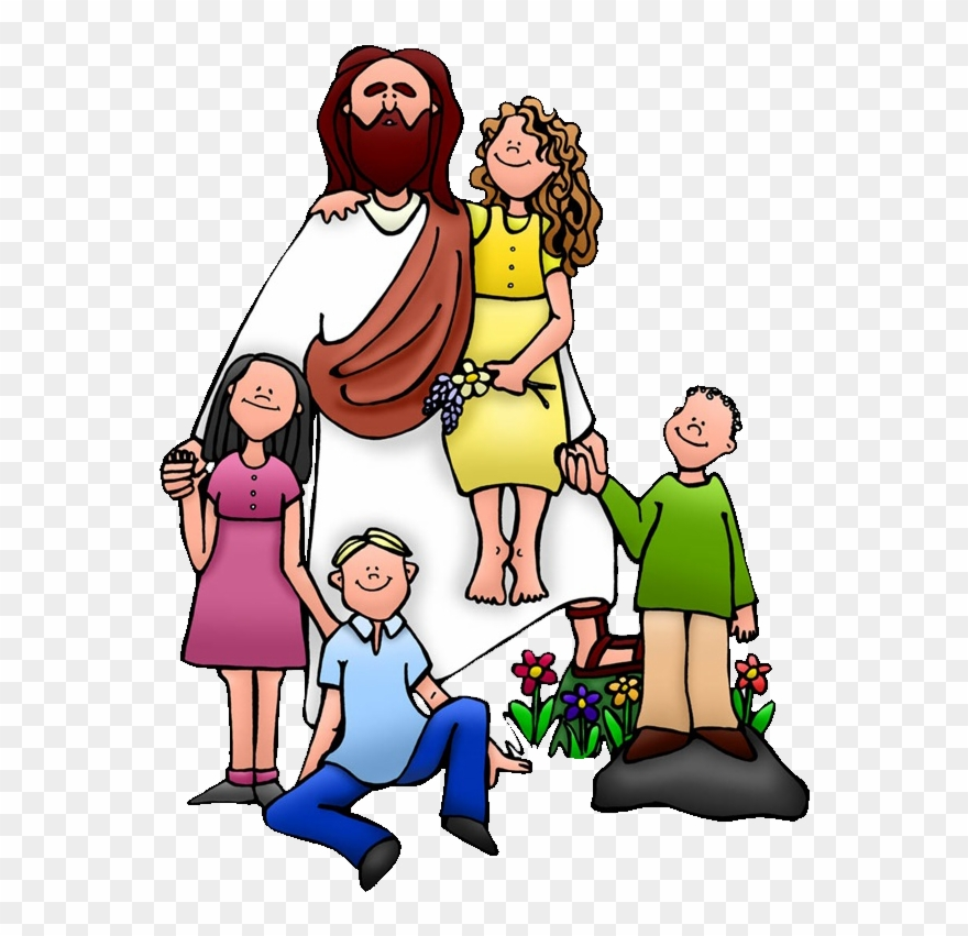 Teaching Of Jesus About Little Children Clip Art Jesus With Kids Clip Art Png Download 75178 Pinclipart