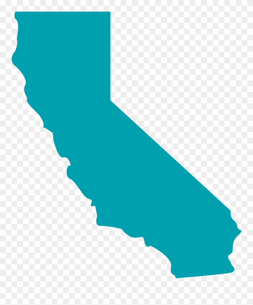 California green. Florida clipart shape state